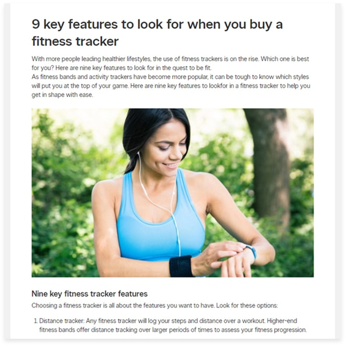 Health & fitness buying guide