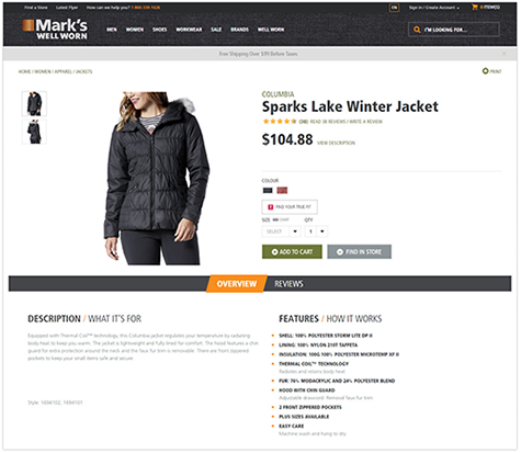 apparel product description