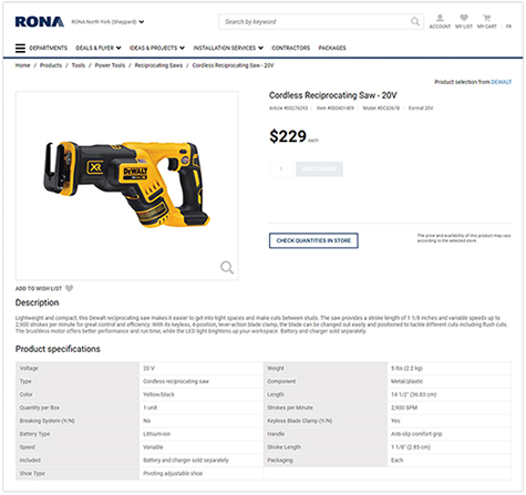 Power tool product description
