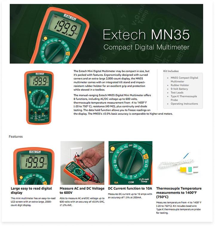 Extech A+ Page