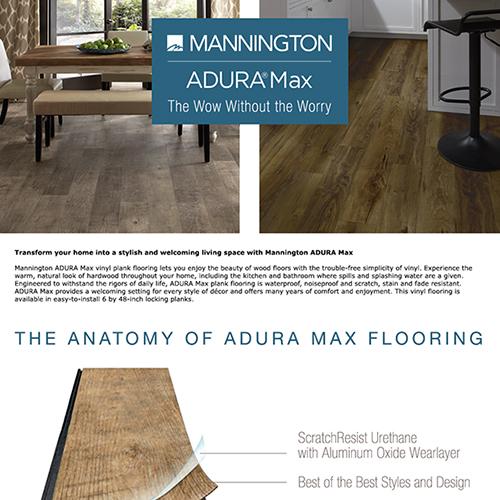 Manninton ADURA Max Flooring Amazon A+ Page