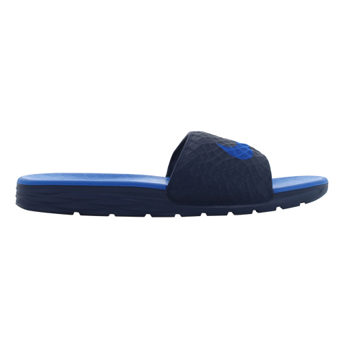 product photography of men's nike slides