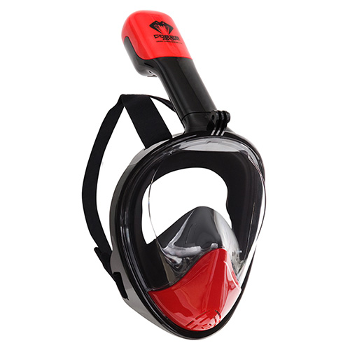 commercial product photography of scuba mask