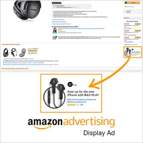 An example of an Amazon Display PPC ad by geekspeak Commerce