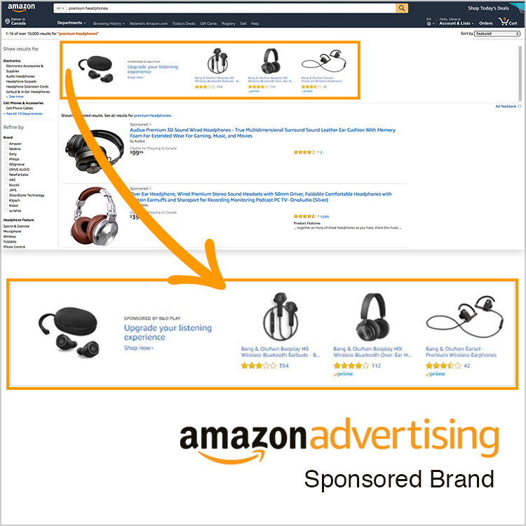 An example of an Amazon Sponsored Brand PPC ad by geekspeak Commerce