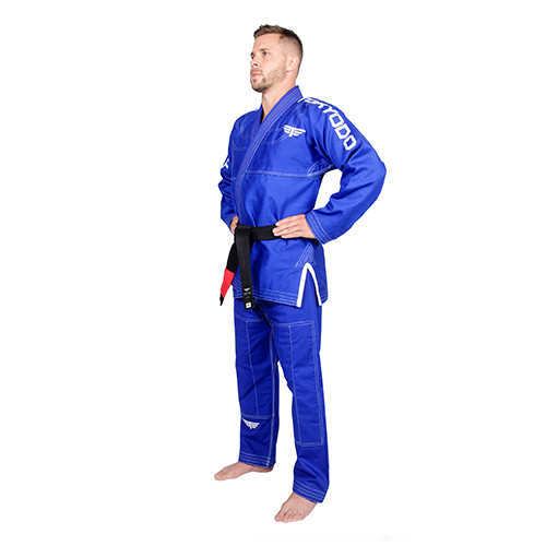 man modelling karate gear