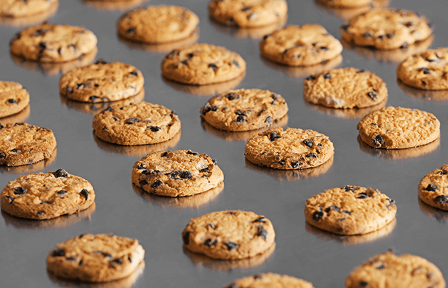Click on this lifestyle image of cookies on a baking sheet to open the A+ page