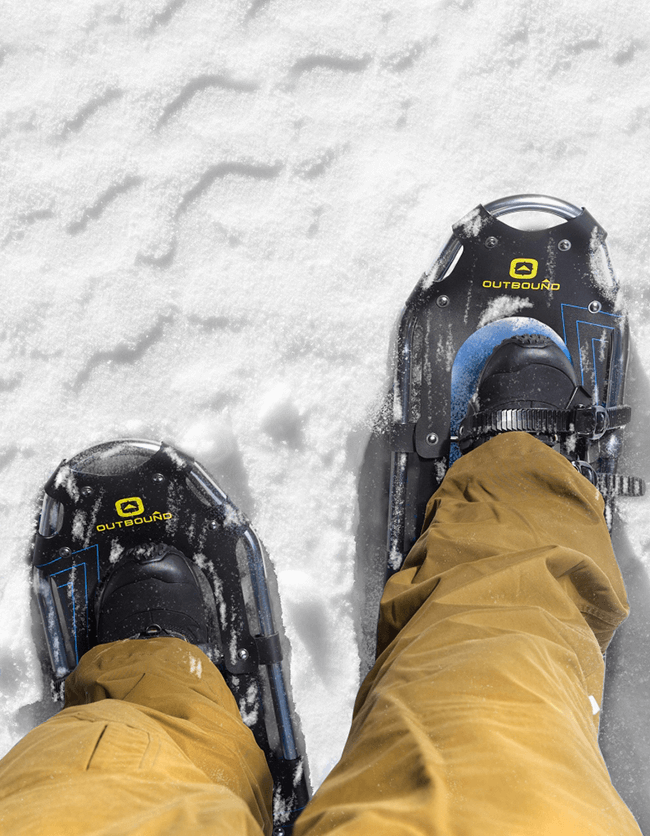 Click on this Outbound snowshoe lifestyle image to open the A+ page