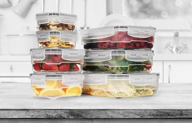 Lifestyle image of food in containers