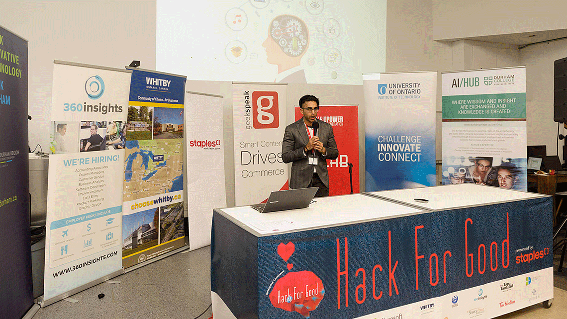 Speaker at geekspeak's Hack for Good Hackathon