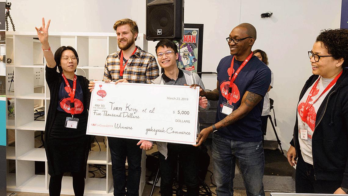 Winners of geekspeak's Hack for Good Hackathon
