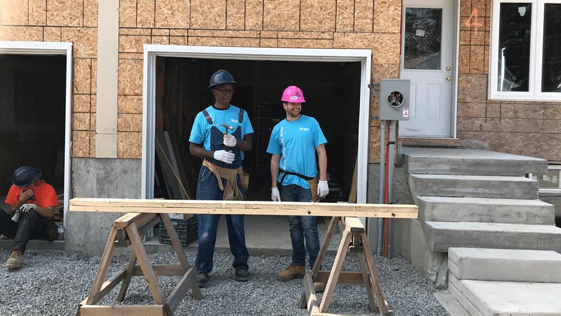 geekspeak team members volunteering at habitat for humanity