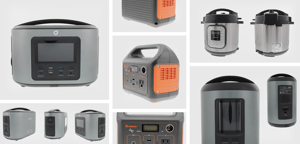 grid of images representing all the angles of products that a 360 video can cover