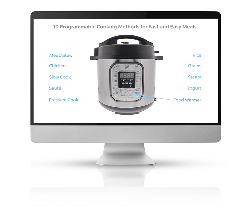 Call-out for an instant pot that can be covered by a 360 video displayed on a large Mac monitor