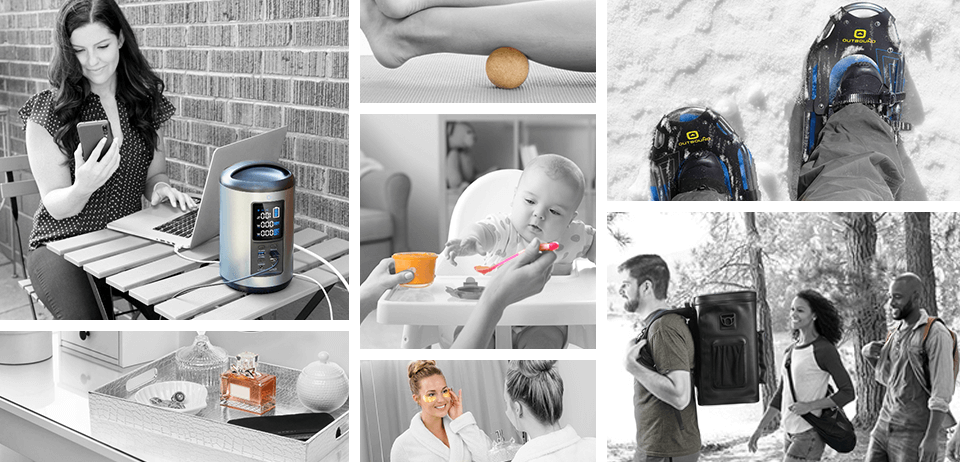 grid of lifestyle images for various consumer products