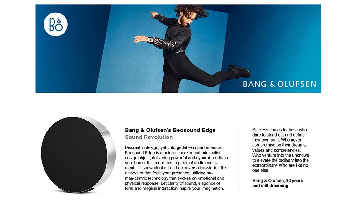 B&O Amazon A+ Page