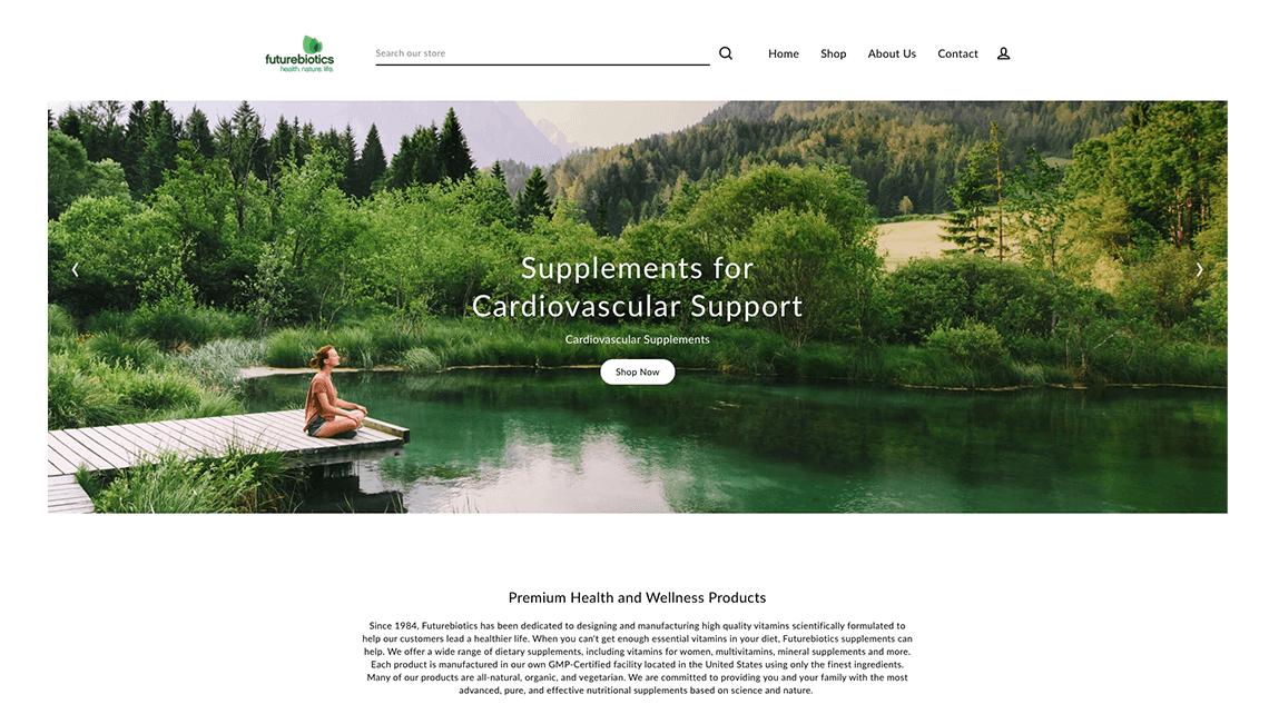 Futurebiotics website