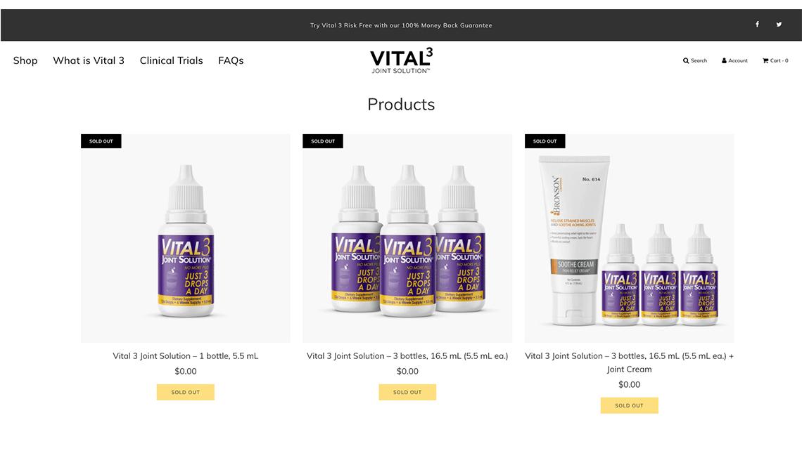 Vital3 website