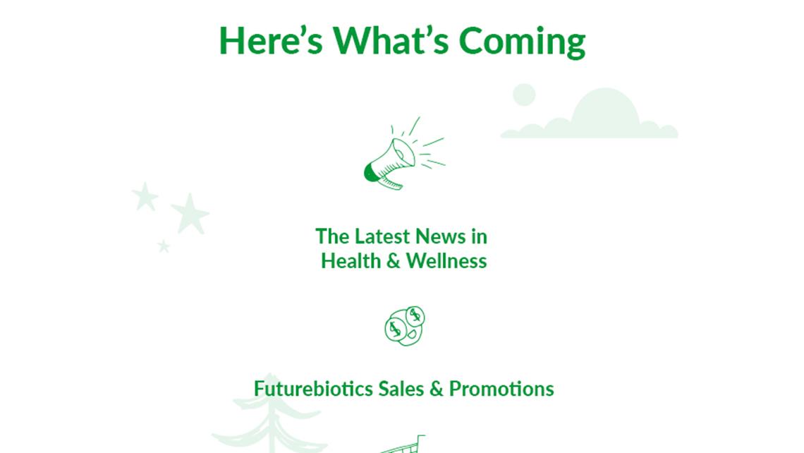 Futurebiotics welcome newsletter