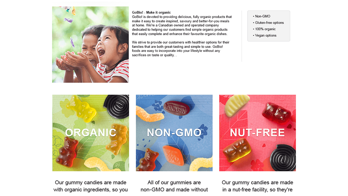 Candy Amazon A+ page for Indigo Concord National