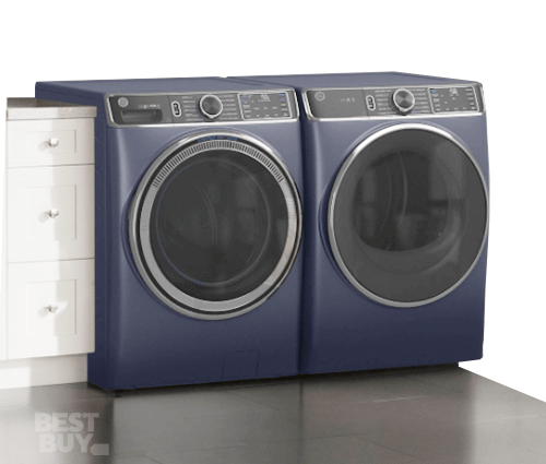 Washer and dryer combo in laundry room