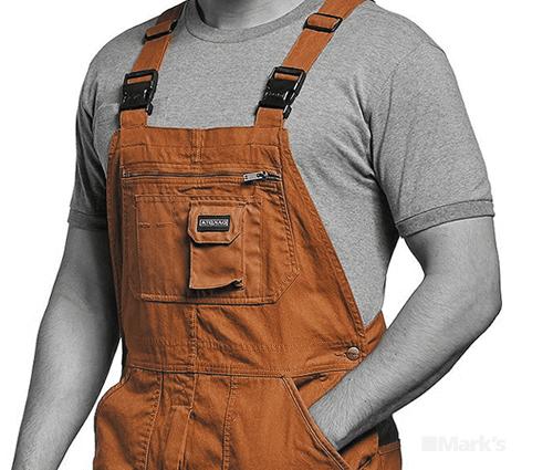 Work overalls on model