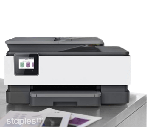 Lifestyle image of colour printer printing documents