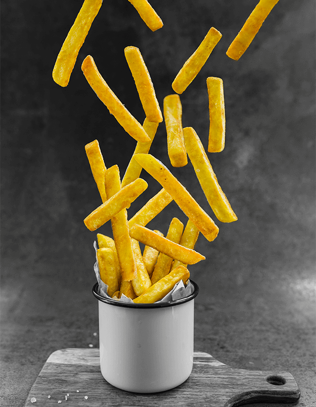 Lifestyle image of french fries